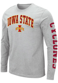 Colosseum Iowa State Cyclones Grey Jackson Tee