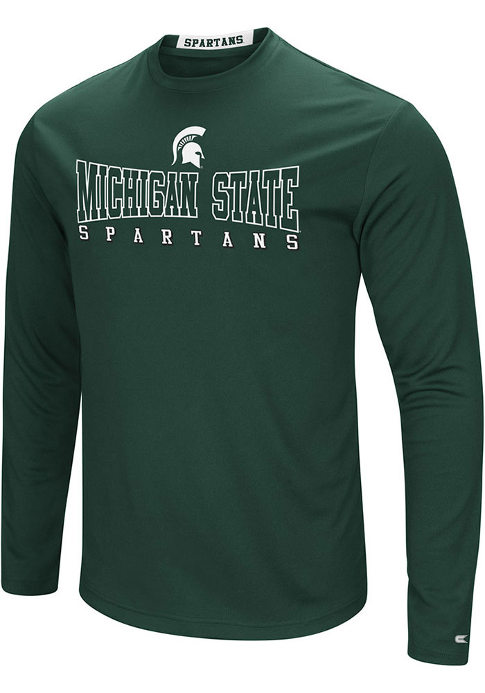 Colosseum Michigan State Spartans Green Landry Long Sleeve T-Shirt - Image 1