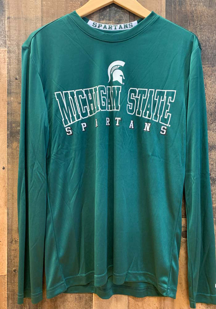Colosseum Michigan State Spartans Green Landry Long Sleeve T-Shirt - Image 2