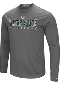 Wayne State Warriors Colosseum Landry T-Shirt - Charcoal
