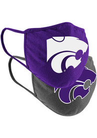 K-State Wildcats Colosseum TC and Grey 2pk Fan Mask - Charcoal