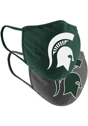 Colosseum Michigan State Spartans TC and Grey 2pk Fan Mask - Charcoal