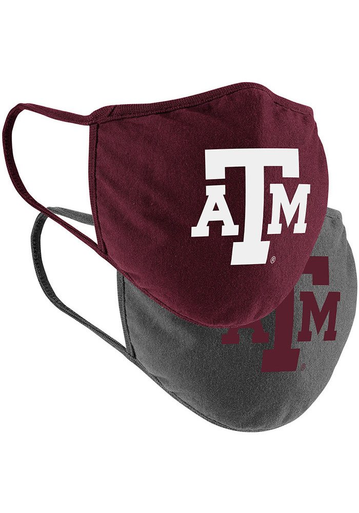 Colosseum Texas A&M Aggies TC and Grey 2pk Fan Mask - Charcoal