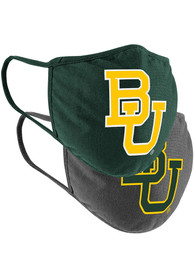 Colosseum Baylor Bears TC and Grey 2pk Fan Mask - Green