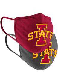 Colosseum Iowa State Cyclones TC and Grey 2pk Fan Mask - Red