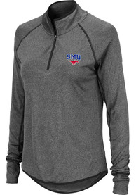 SMU Mustangs Womens Colosseum Bailey 1/4 Zip - Grey