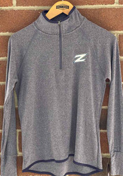 Colosseum Akron Zips Womens Blue Bailey 1/4 Zip Pullover