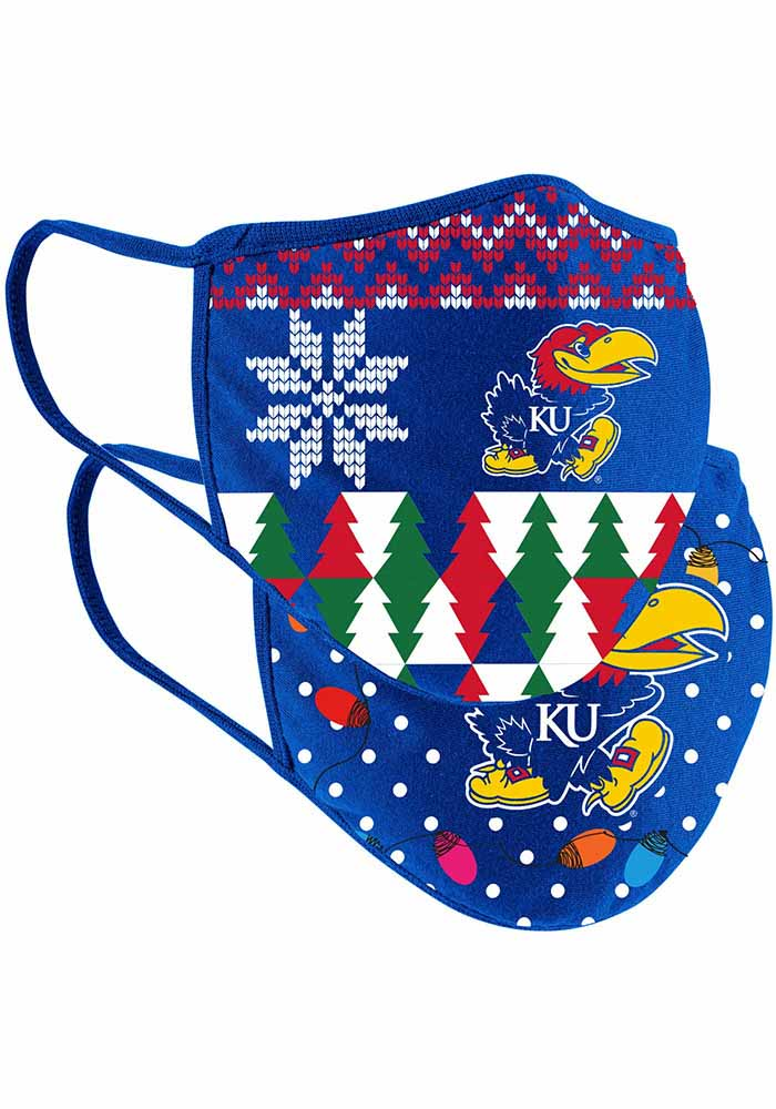 Colosseum Kansas Jayhawks Ugly Sweater Fan Mask - Blue