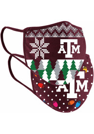 Colosseum Texas A&M Aggies Ugly Sweater Fan Mask - Red