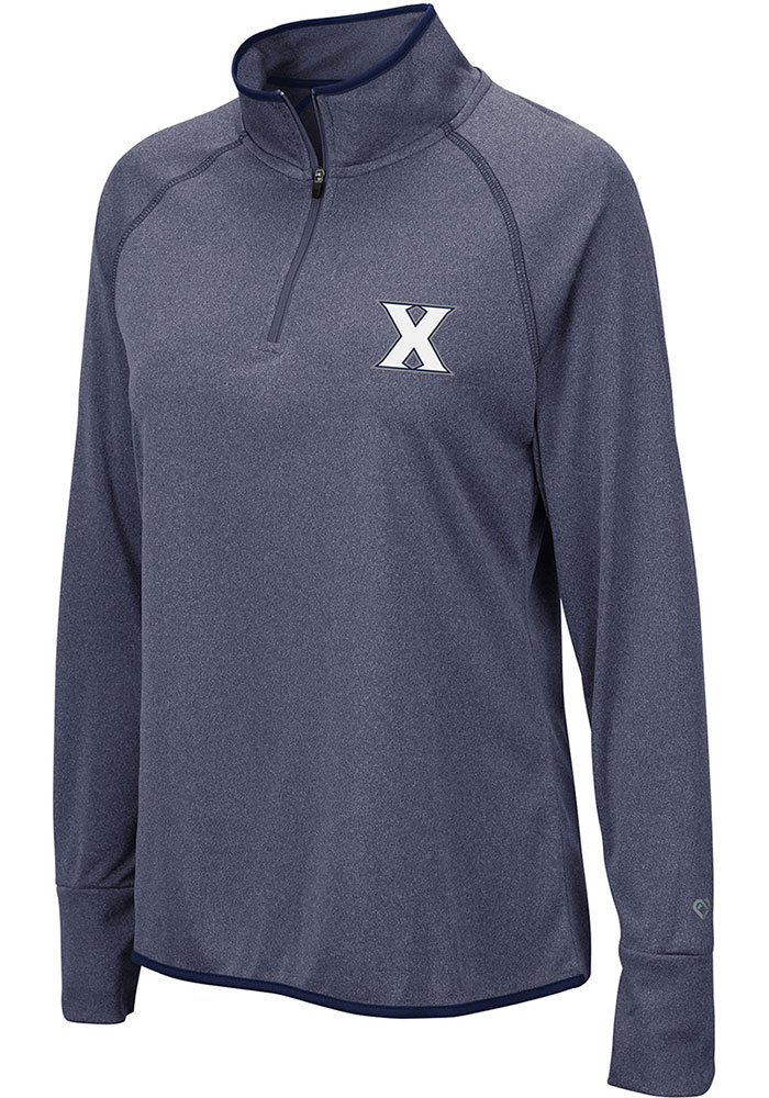 Colosseum Xavier Womens Blue Bailey 1/4 Zip Pullover - Image 1