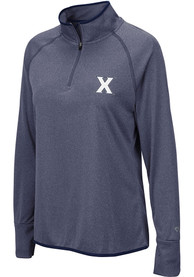 Xavier Musketeers Womens Colosseum Bailey 1/4 Zip - Blue