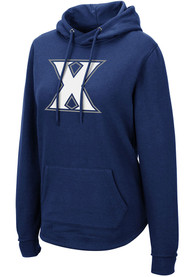 Xavier Musketeers Womens Colosseum Crossover Hooded Sweatshirt - Navy Blue