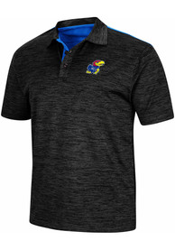 Kansas Jayhawks Colosseum Burrow Polo Shirt - Charcoal