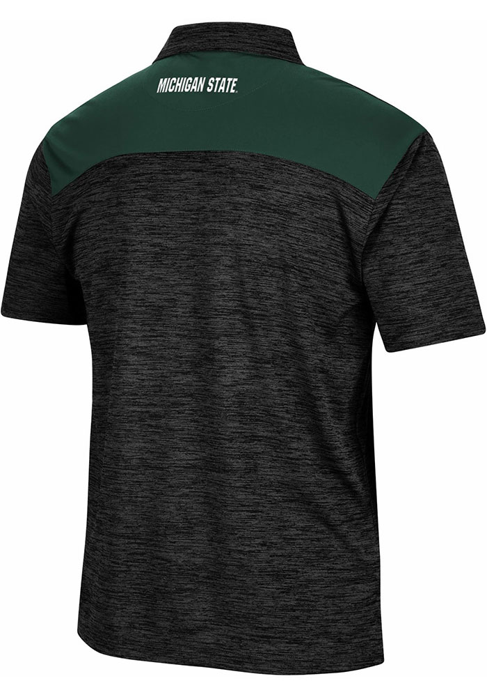 Colosseum Michigan State Spartans Mens Charcoal Burrow Short Sleeve Polo - Image 2