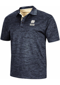 Colosseum Notre Dame Fighting Irish Navy Blue Burrow Short Sleeve Polo Shirt