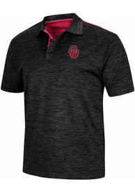 Oklahoma Sooners Colosseum Burrow Polo Shirt - Charcoal