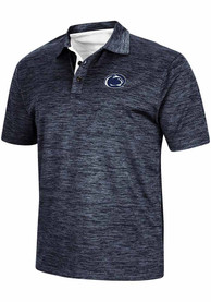 Colosseum Penn State Nittany Lions Navy Blue Burrow Short Sleeve Polo Shirt