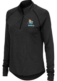 Kansas City Mavericks Womens Colosseum Bailey 1/4 Zip - Black