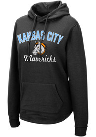 Kansas City Mavericks Womens Colosseum Crossover Hooded Sweatshirt - Black