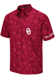 Oklahoma Sooners Colosseum Molokai Camp Dress Shirt - Crimson