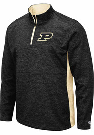 Purdue Boilermakers Colosseum Sanjay Fleece 1/4 Zip Pullover - Black
