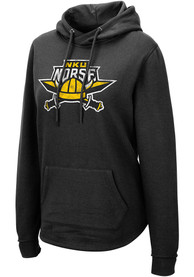 Northern Kentucky Norse Womens Colosseum Crossover Hooded Sweatshirt - Black