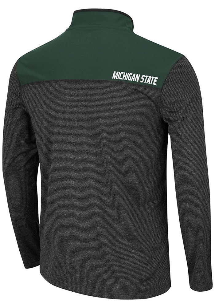 Colosseum Michigan State Spartans Mens Black Rangers Long Sleeve 1/4 Zip Pullover - Image 2