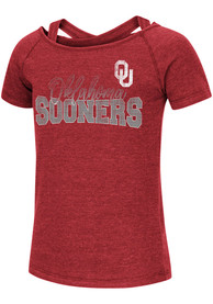 Oklahoma Sooners Girls Colosseum Zaza Fashion T-Shirt - Crimson