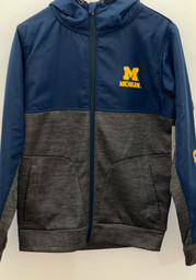 Colosseum Michigan State Spartans Mens Navy Blue Goat Medium Weight Jacket