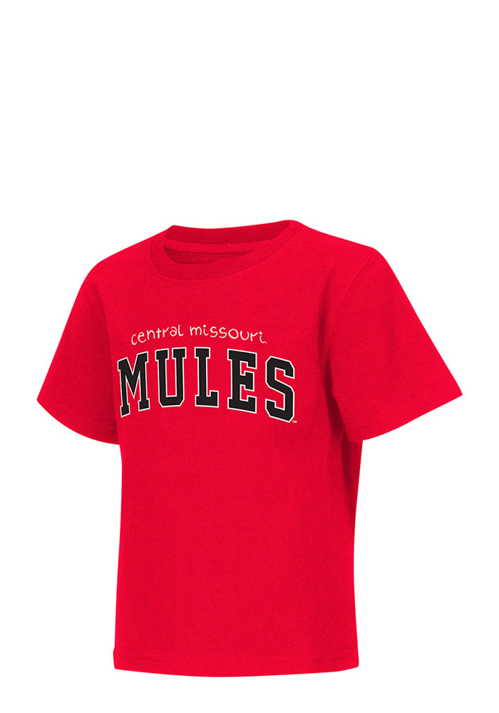 Central Missouri Mules Toddler Red Rally Loud Short Sleeve T-Shirt - Image 1