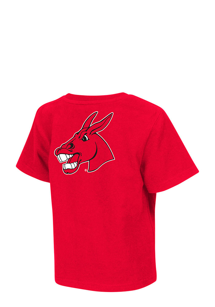 Central Missouri Mules Toddler Red Rally Loud Short Sleeve T-Shirt - Image 2