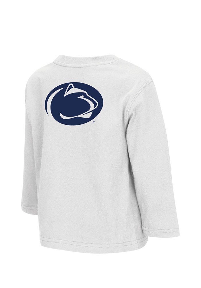 Colosseum Penn State Nittany Lions Toddler White Rally Loud Long Sleeve T-Shirt - Image 2