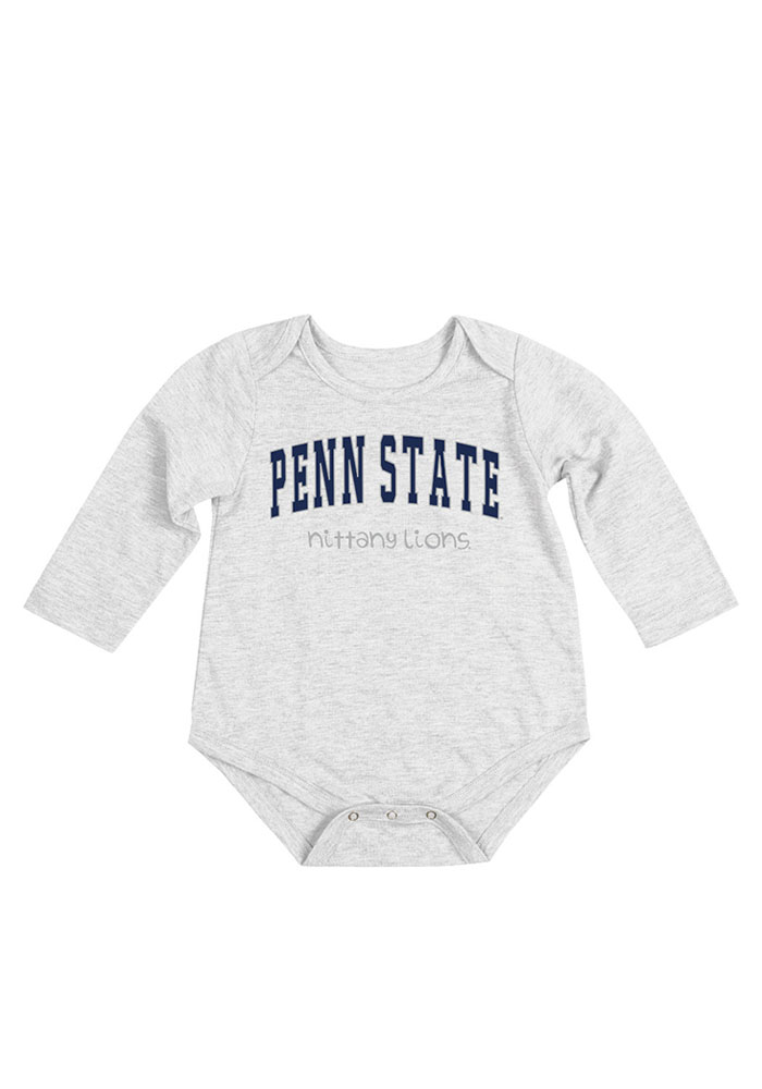 Colosseum Penn State Nittany Lions Baby White Rally Loud Long Sleeve Creeper - Image 1