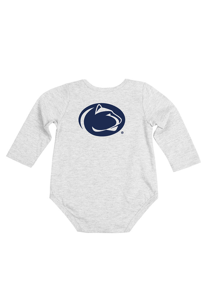 Colosseum Penn State Nittany Lions Baby White Rally Loud Long Sleeve Creeper - Image 2