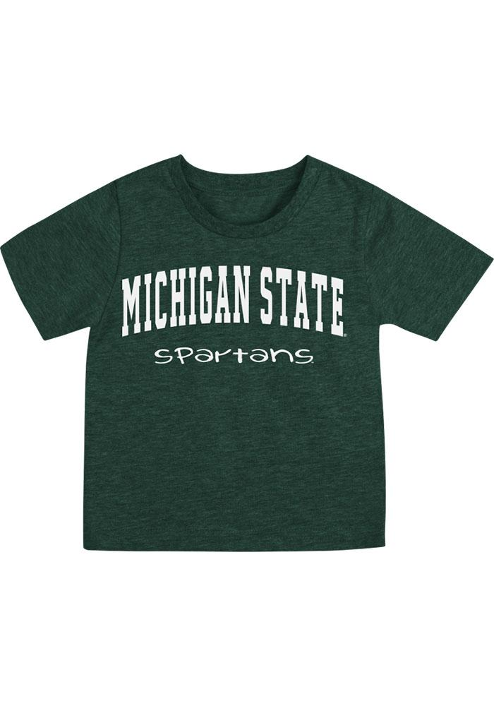 Michigan State Spartans Infant Colosseum Arch Rally Loud T-Shirt - Green
