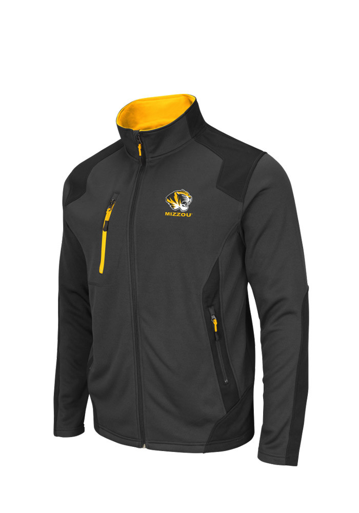 Colosseum Missouri Tigers Mens Grey Double Coverage Light Weight Jacket - Image 1