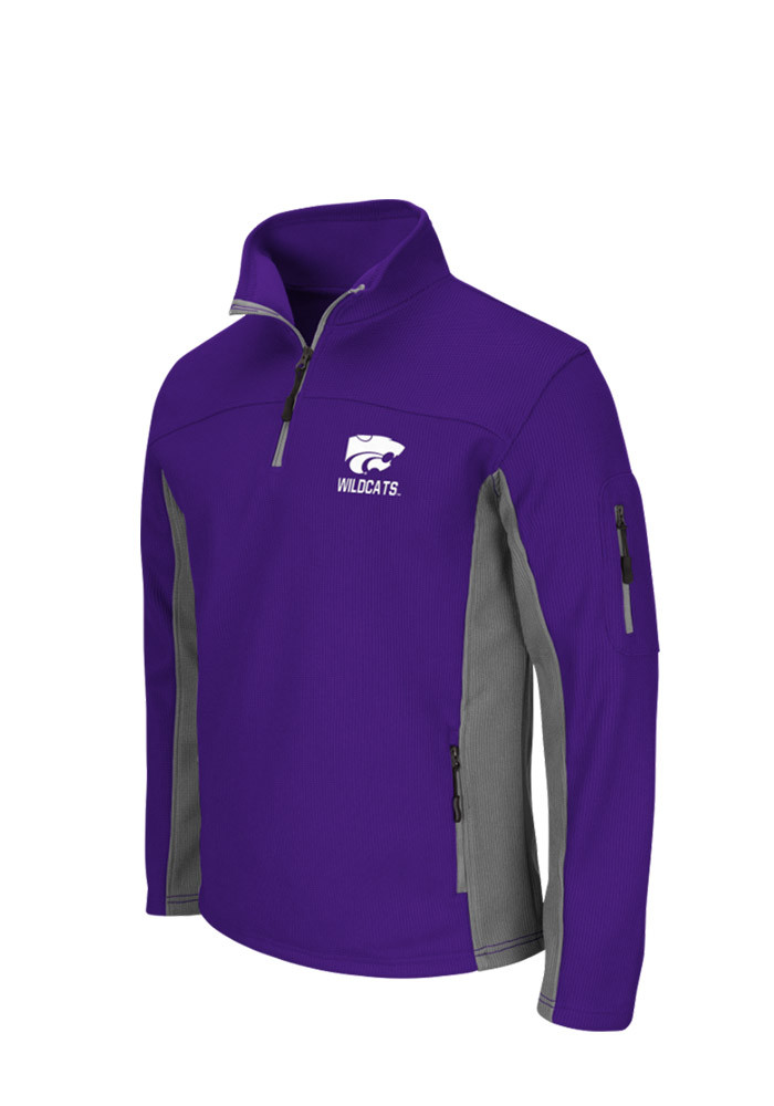 Colosseum K-State Wildcats Mens Purple Plow 3 Long Sleeve 1/4 Zip Pullover - Image 1