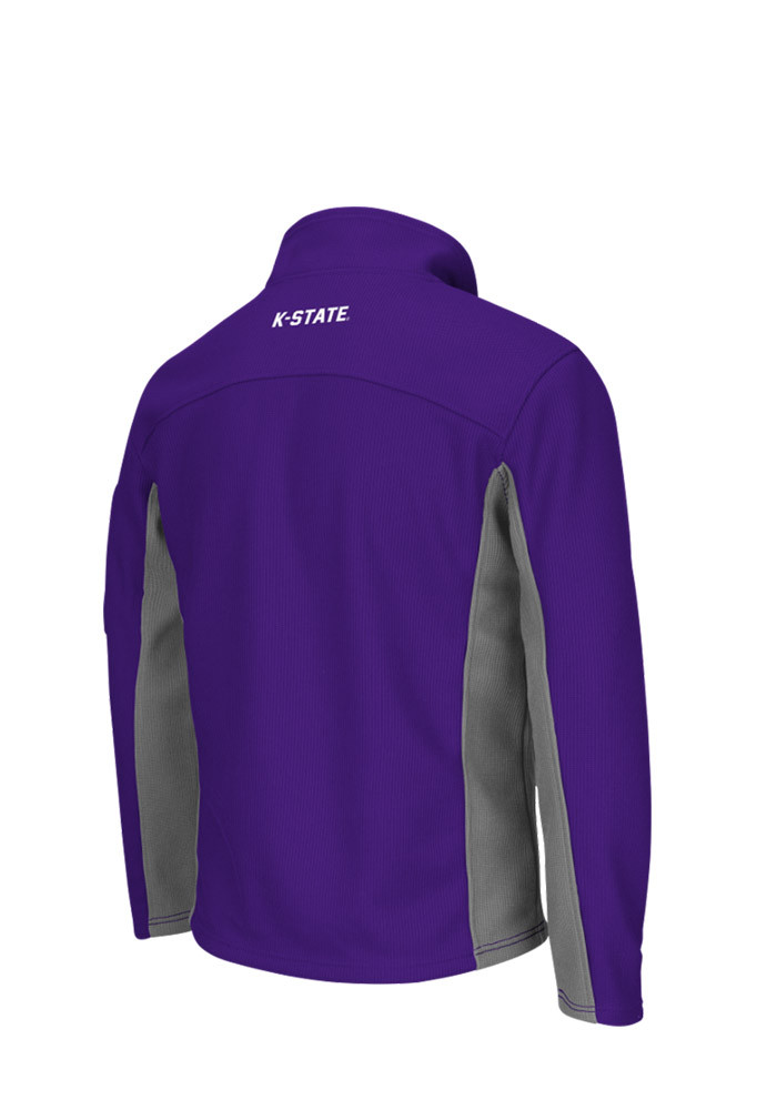 Colosseum K-State Wildcats Mens Purple Plow 3 Long Sleeve 1/4 Zip Pullover - Image 2