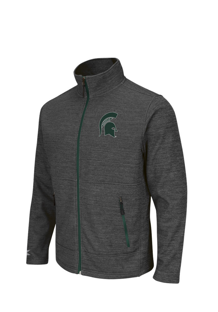 Colosseum Michigan State Spartans Mens Grey Backfield Light Weight Jacket - Image 1