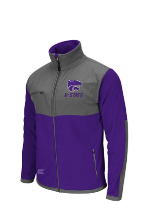 Colosseum K-State Wildcats Mens Purple Halfpipe 2 Light Weight Jacket