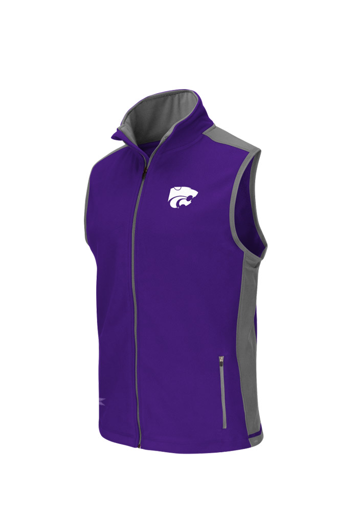 Colosseum K-State Wildcats Mens Purple Halfpipe 2 Sleeveless Jacket - Image 1