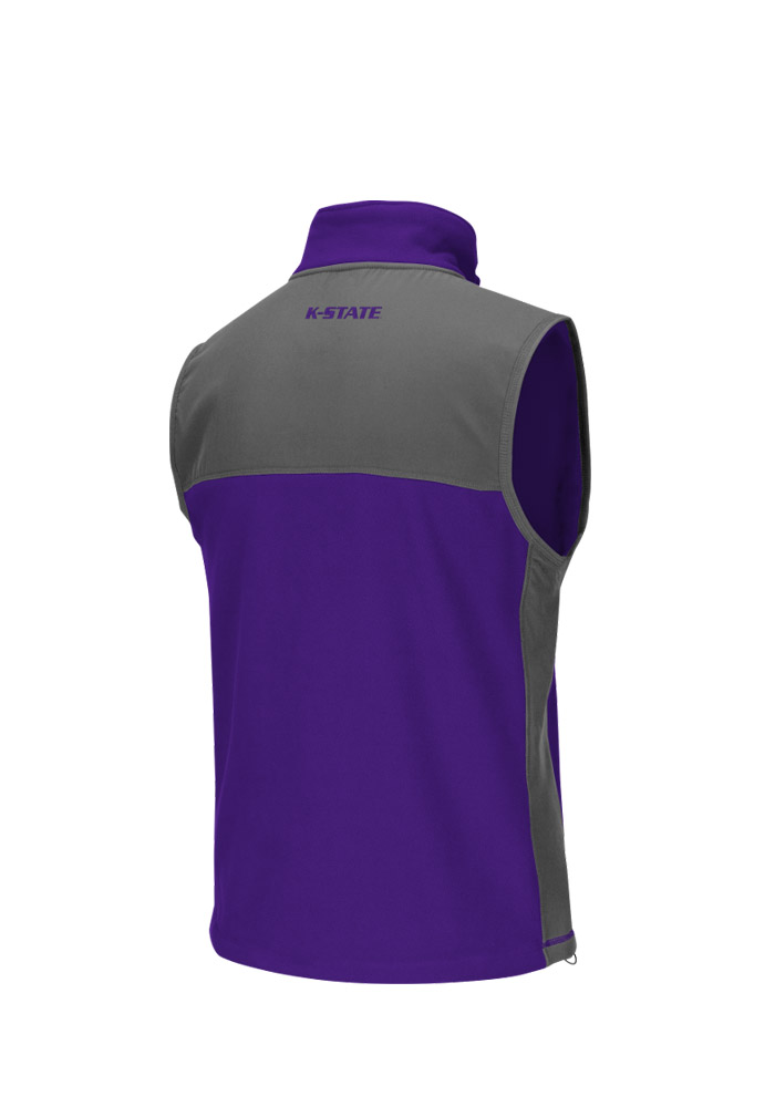 Colosseum K-State Wildcats Mens Purple Halfpipe 2 Sleeveless Jacket - Image 2