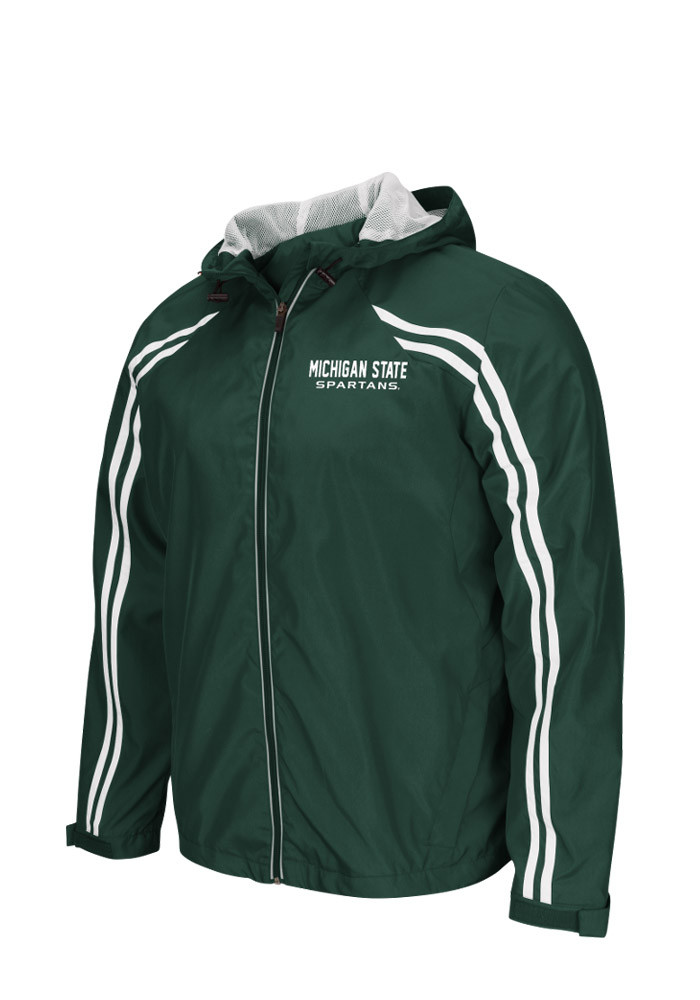 Colosseum Michigan State Spartans Mens Green Storm Wind Light Weight Jacket - Image 1