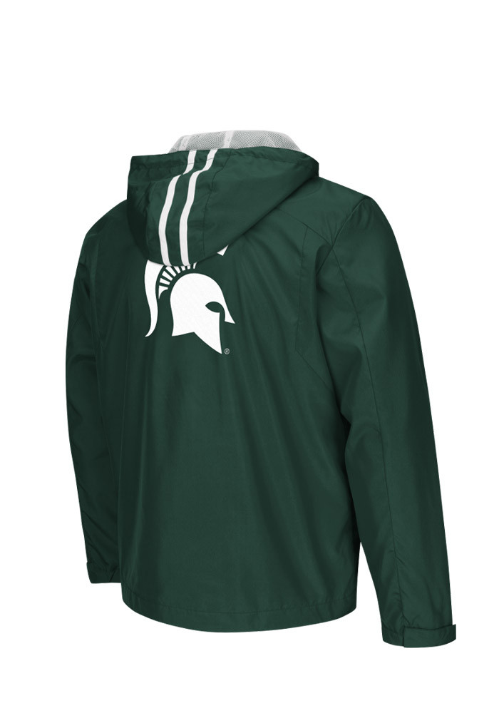 Colosseum Michigan State Spartans Mens Green Storm Wind Light Weight Jacket - Image 2