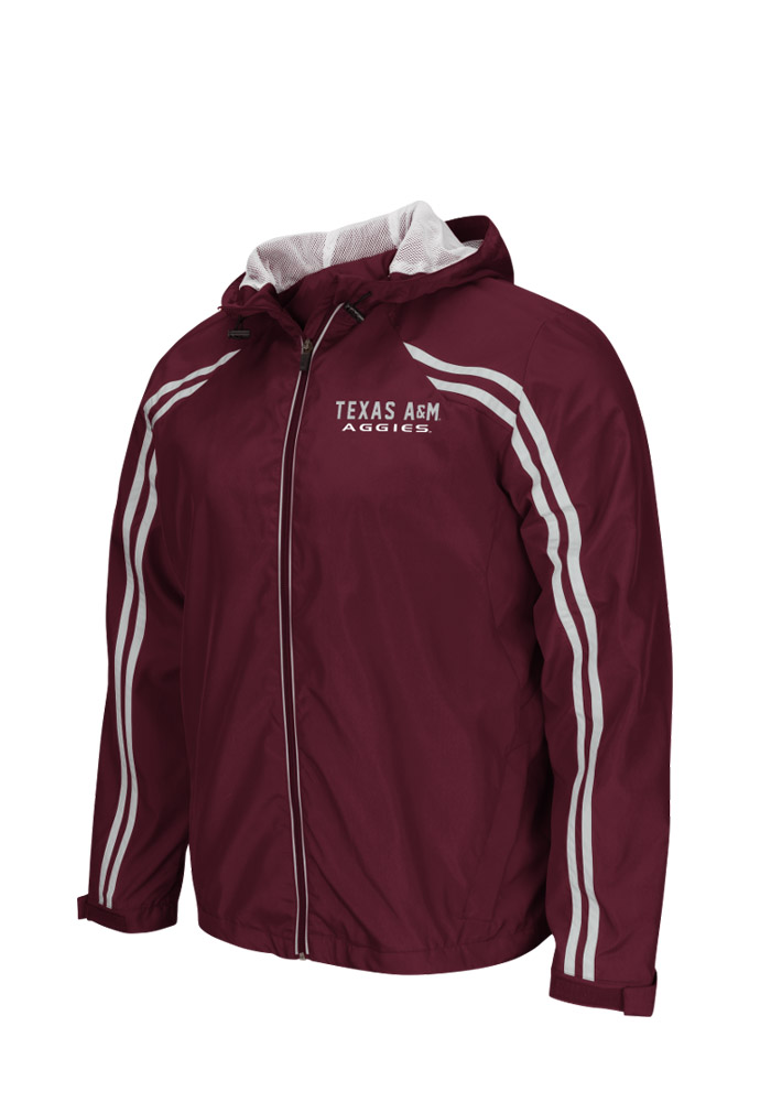 Colosseum Texas A&M Aggies Mens Maroon Storm Wind Light Weight Jacket - Image 1