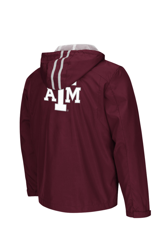 Colosseum Texas A&M Aggies Mens Maroon Storm Wind Light Weight Jacket - Image 2