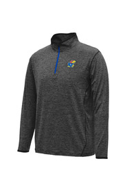 Colosseum KU Jayhawks Mens Grey Action Pass 1/4 Zip Performance Pullover