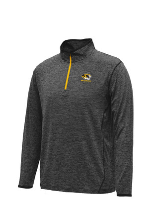 Colosseum Mizzou Tigers Mens Black Action Pass 1/4 Zip Performance Pullover