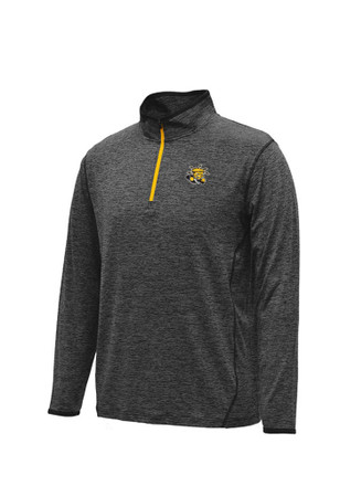 Colosseum WSU Mens Black Action Pass 1/4 Zip Performance Pullover