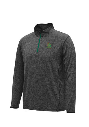 Colosseum Baylor Mens Black Action Pass 1/4 Zip Performance Pullover